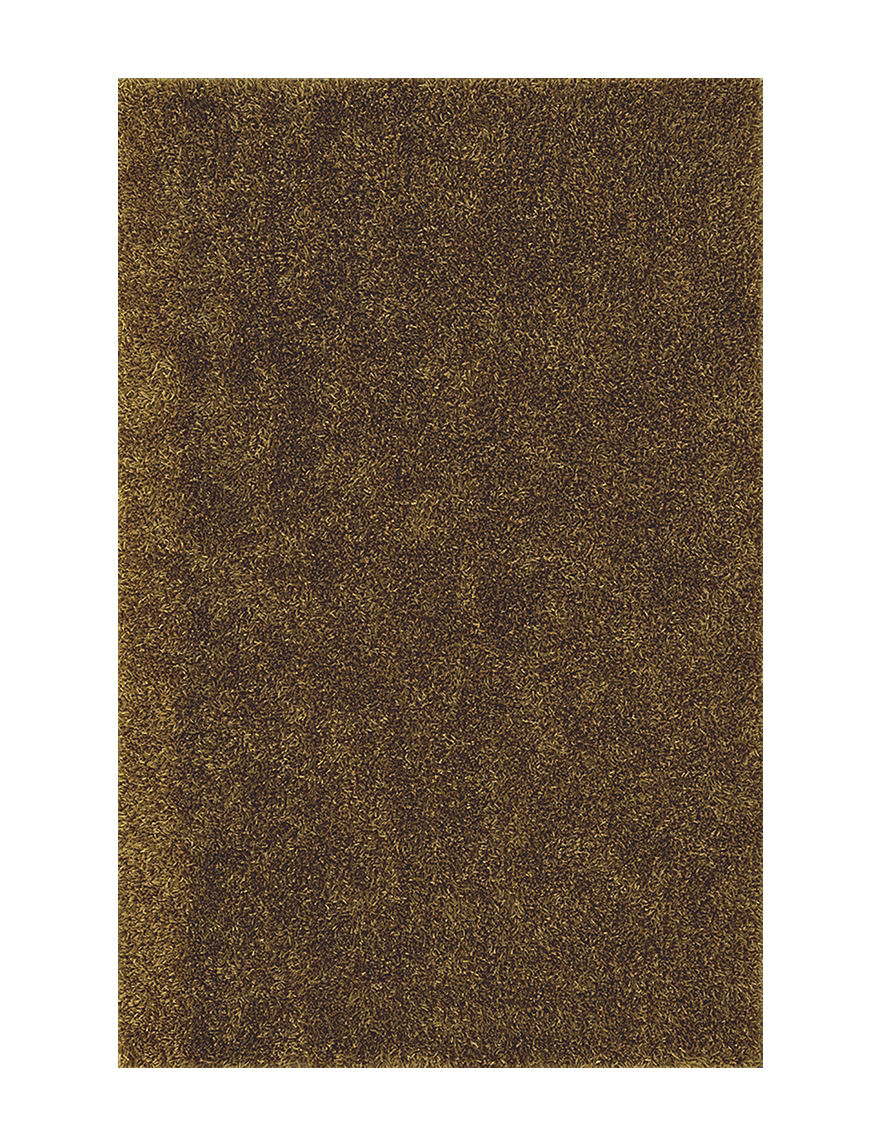 Dalyn Rugs Illusion Collection Solid Color Gold Shag Area