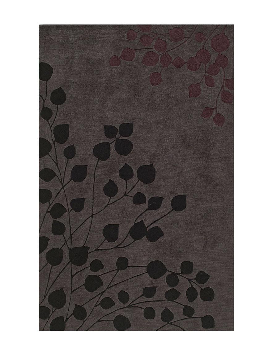 dalyn rugs studio plush collection multi tonal grey leaf pri