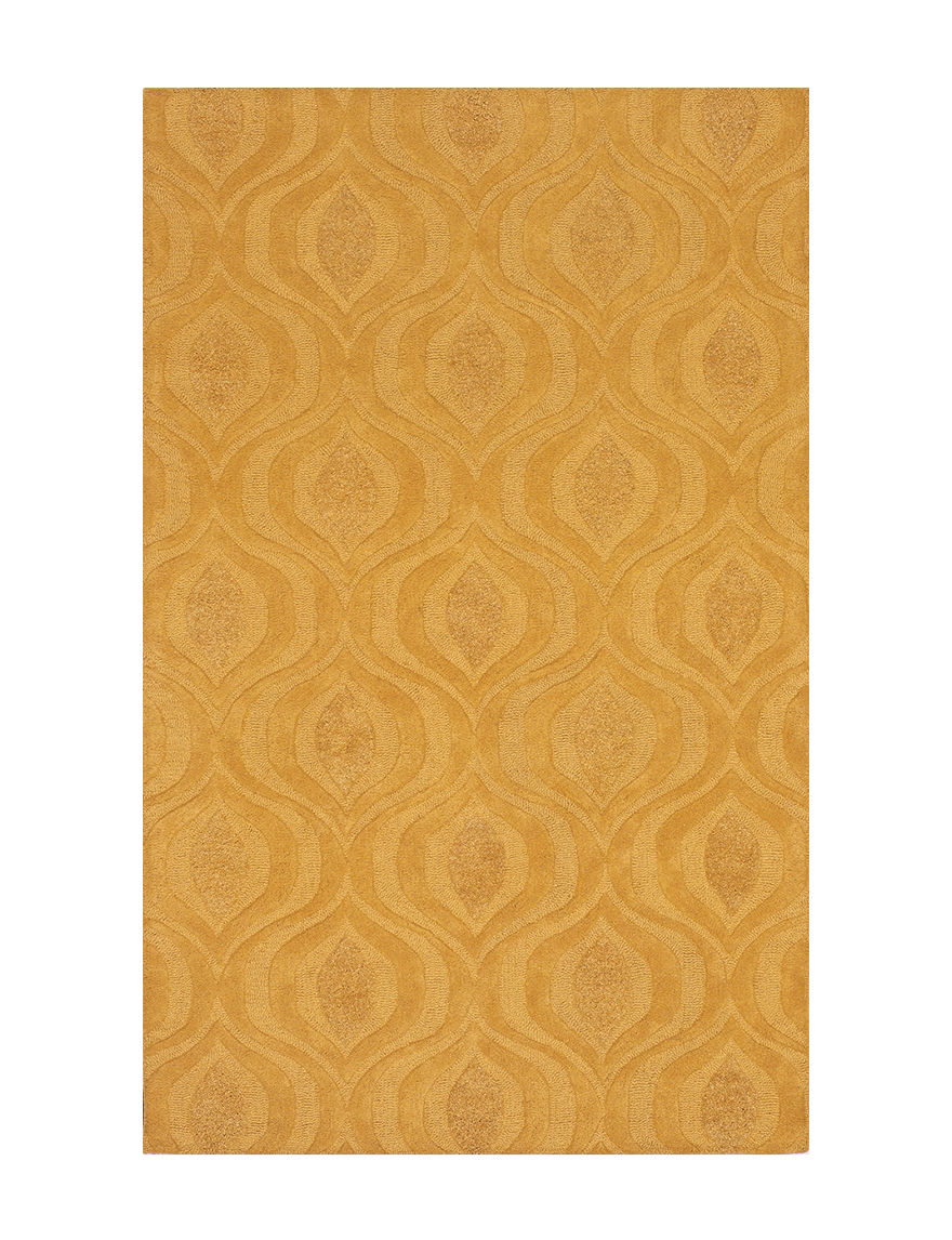 Dalyn rugs tones collection yellow ikat print wool area for Best area rug websites