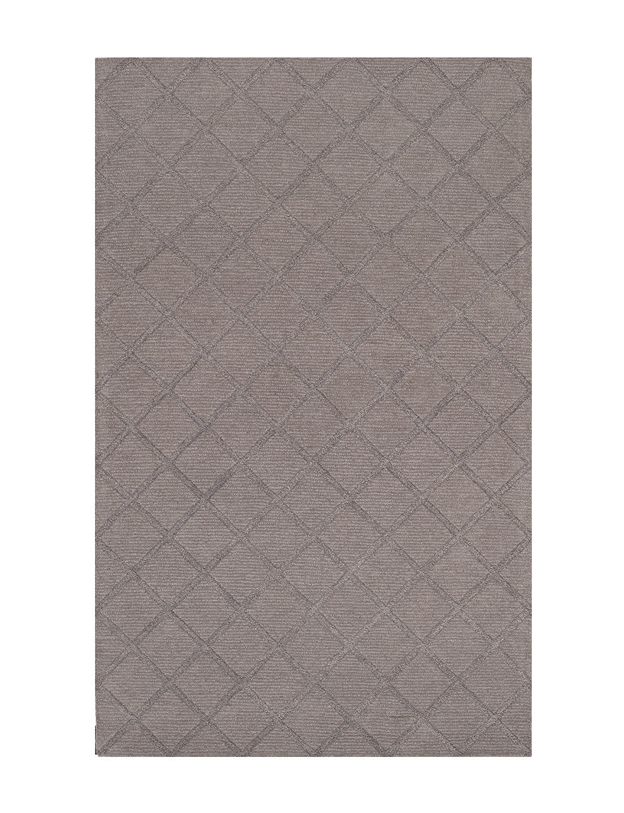 Dalyn Rugs Solid Color Grey Diamond Print Tones Collection