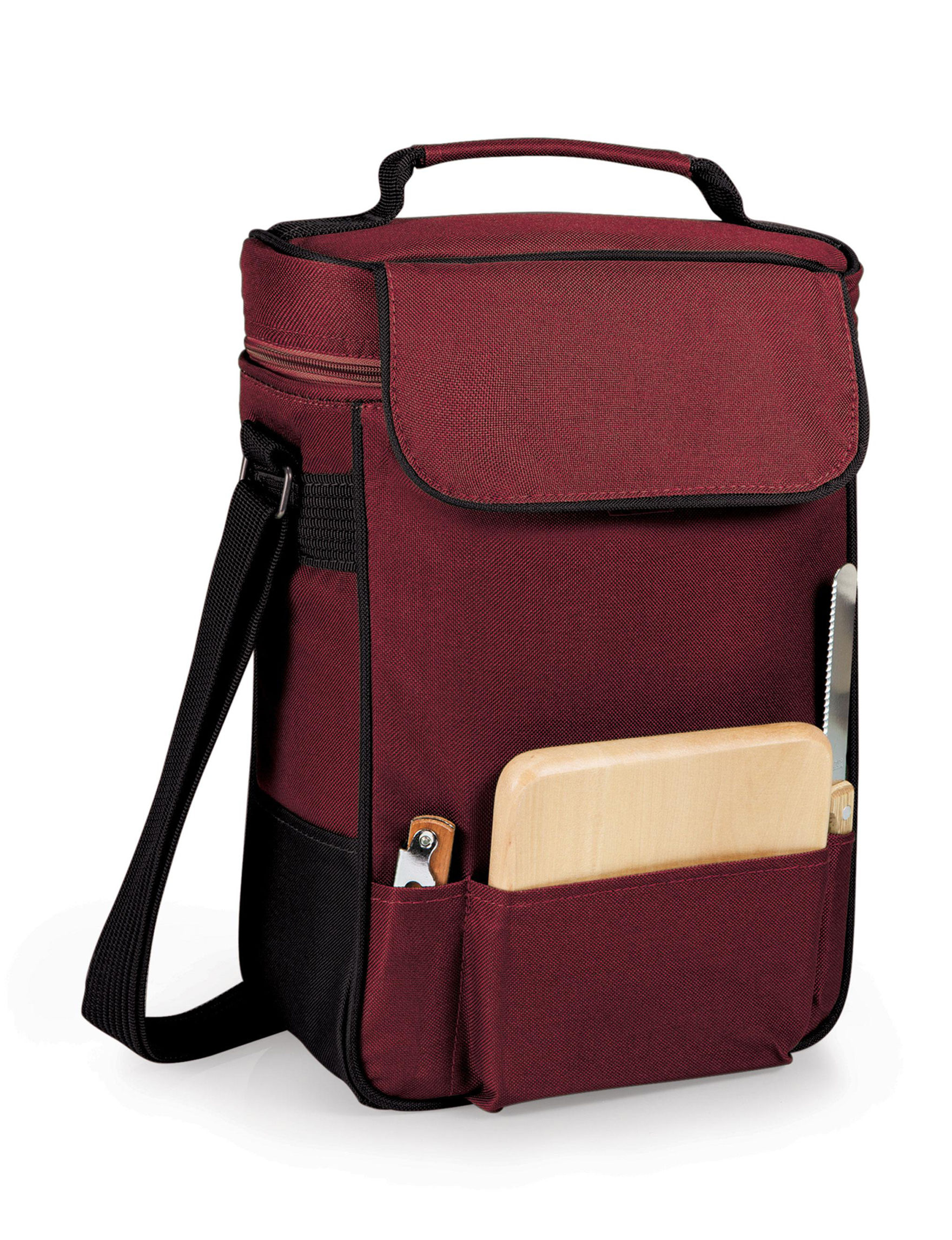 Picnic Time Burgundy Carriers & Totes Coolers Cutting Boards Drinkware Sets Wine & Bar Tools Bar Accessories Camping & Outdoor Gear Drinkware