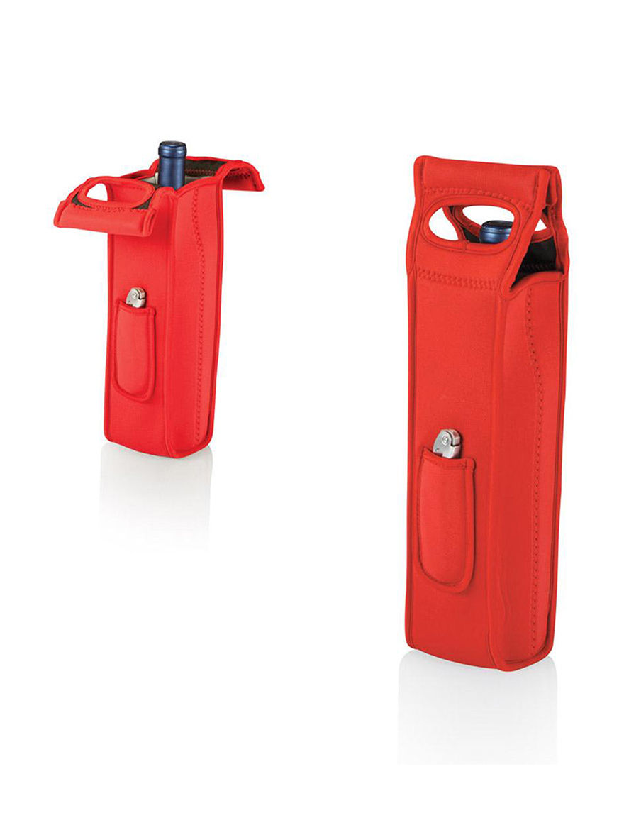 Picnic Time Red Carriers & Totes Coolers Wine Coolers Bar Accessories Camping & Outdoor Gear