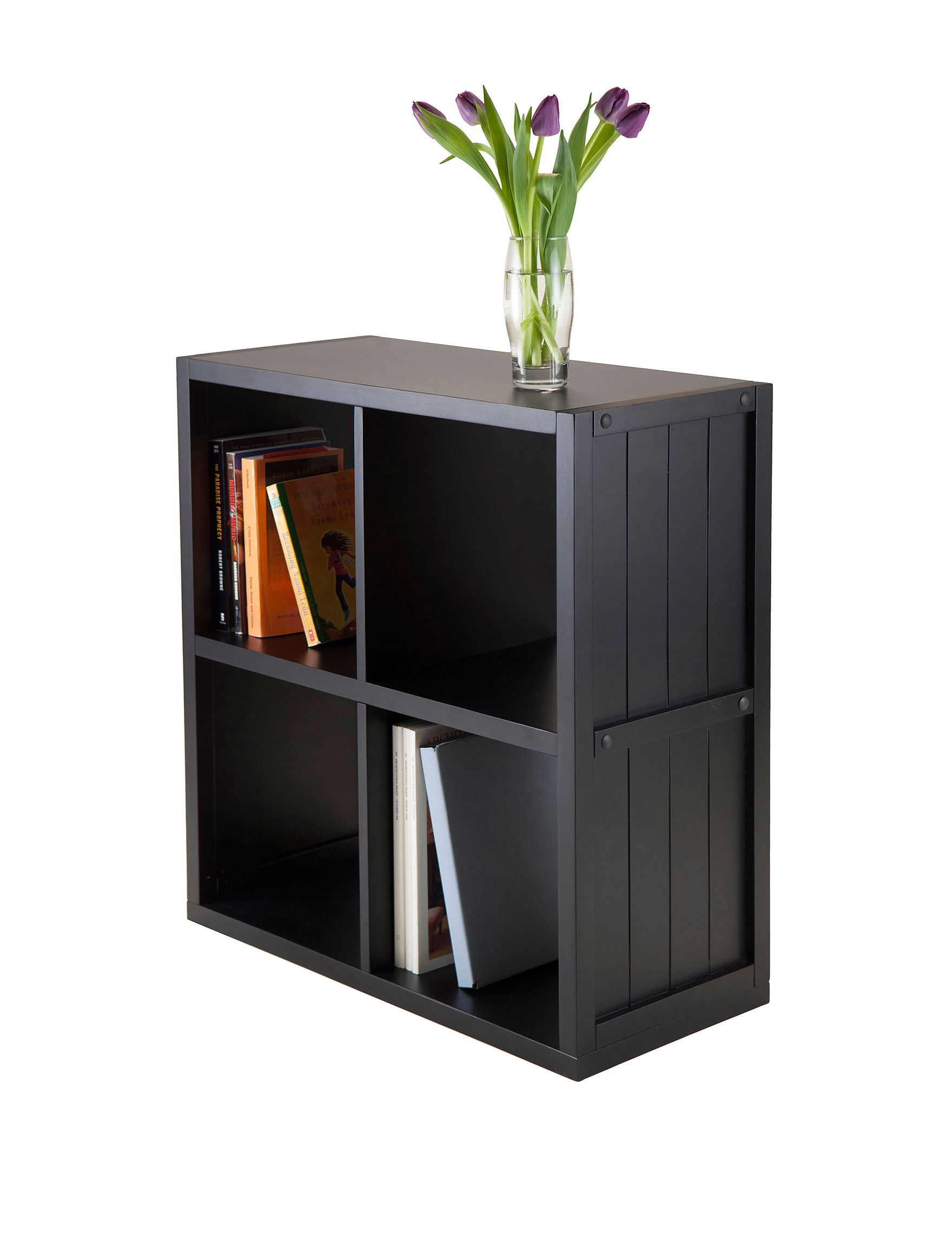 Winsome Black Bookcases & Shelves Living Room Furniture