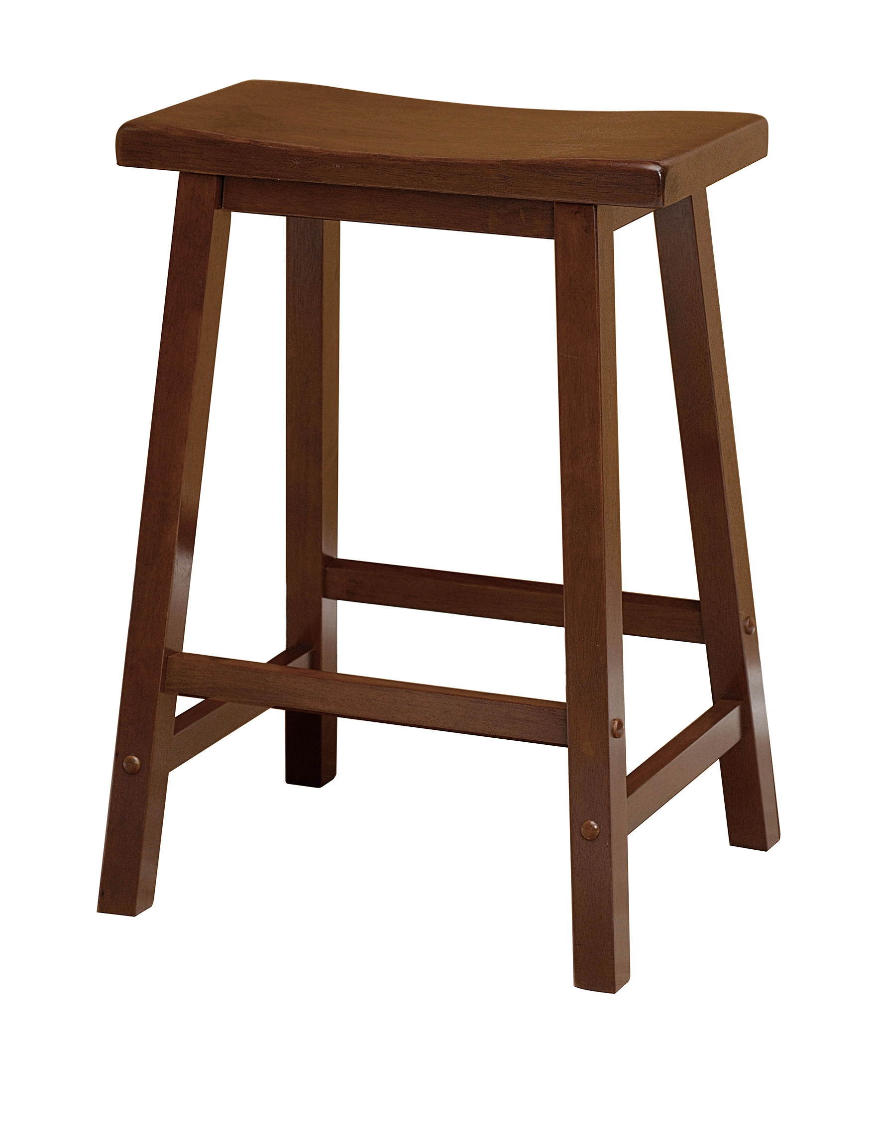 Winsome 24 Inch Saddle Bar Stool Stage Stores