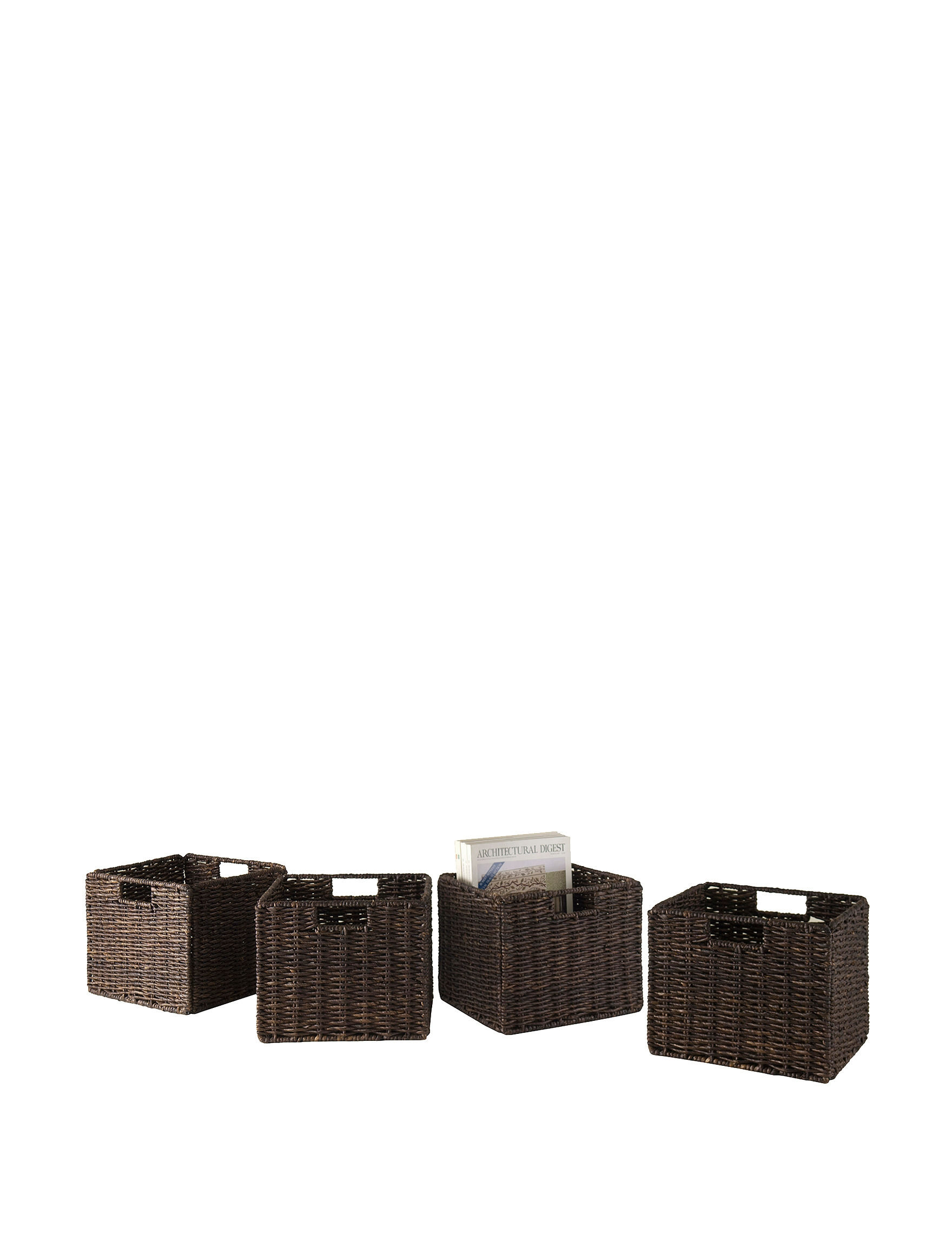 Winsome Chocolate Baskets Living Room Furniture