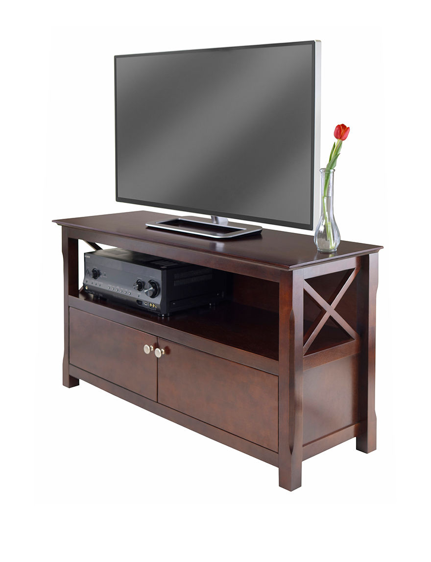 Winsome Dark Brown TV Stands & Entertainment Centers Living Room Furniture