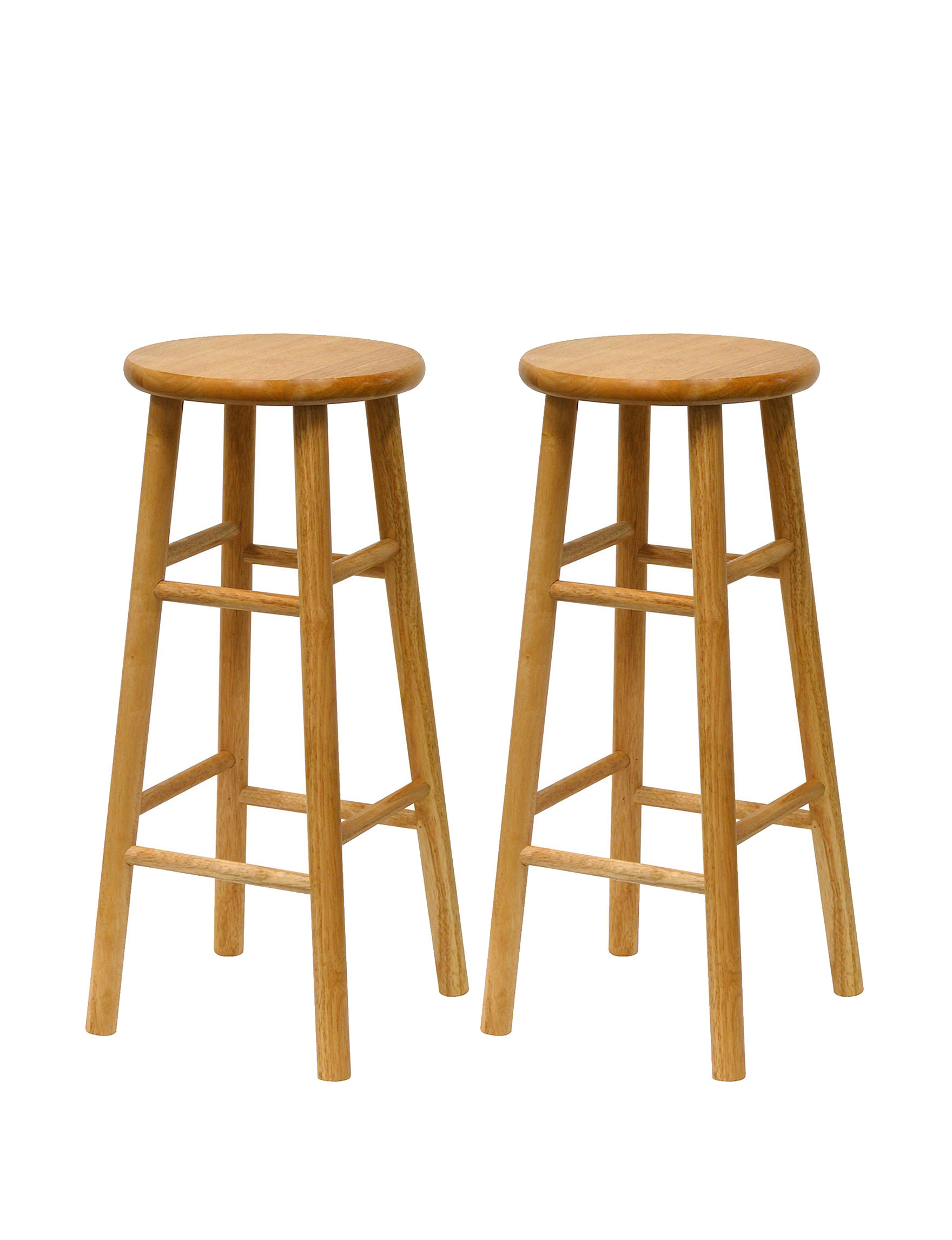 Winsome Set Of 2 Beveled 30 Inch Stools Stage Stores