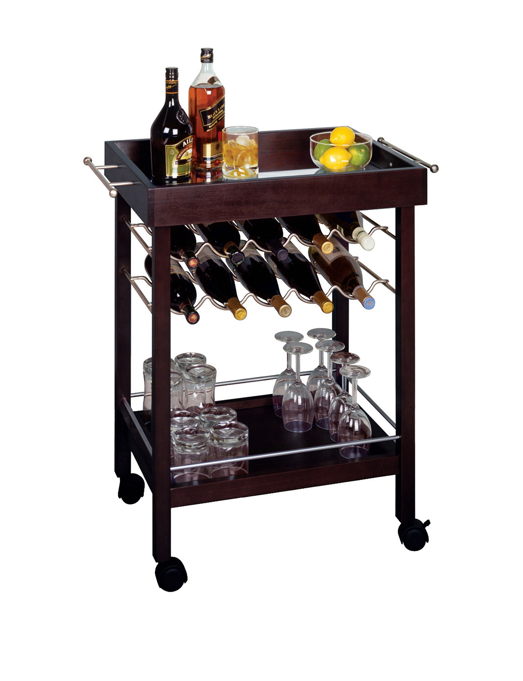 Winsome Chocolate Kitchen Islands & Carts Kitchen & Dining Furniture