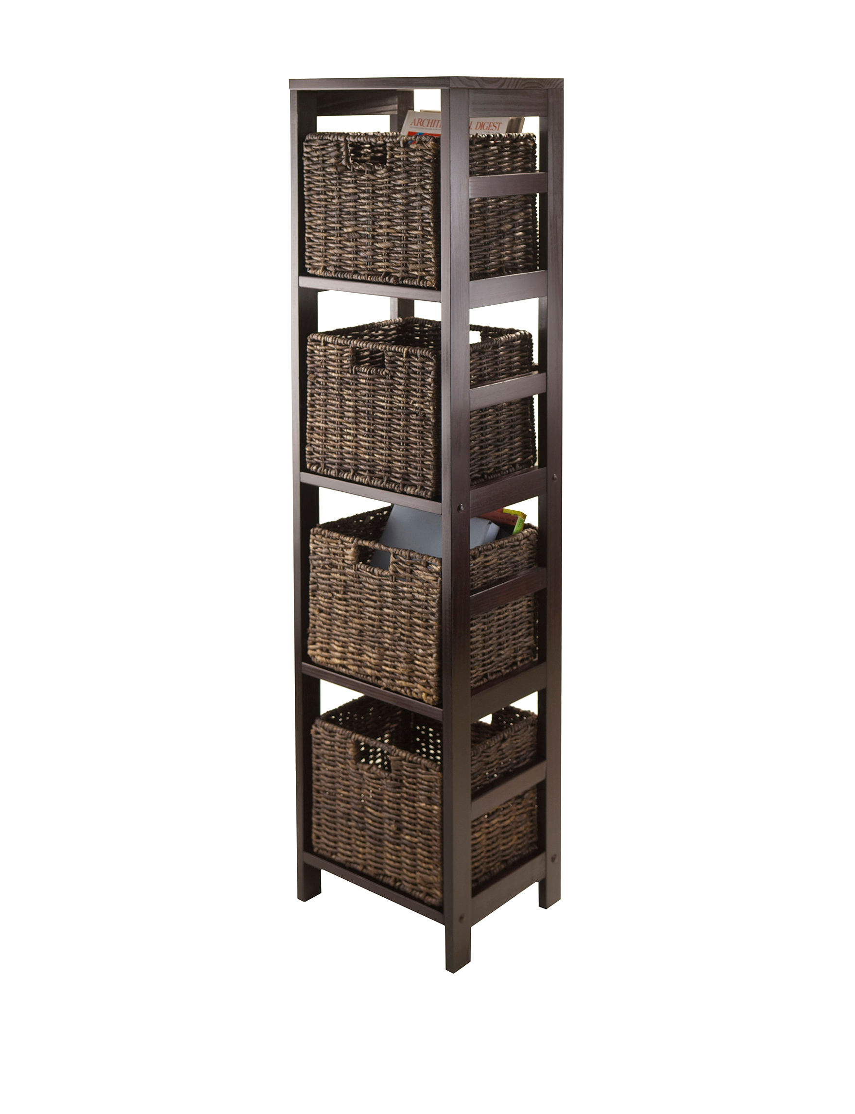 Winsome Espresso Bookcases & Shelves Home Office Furniture
