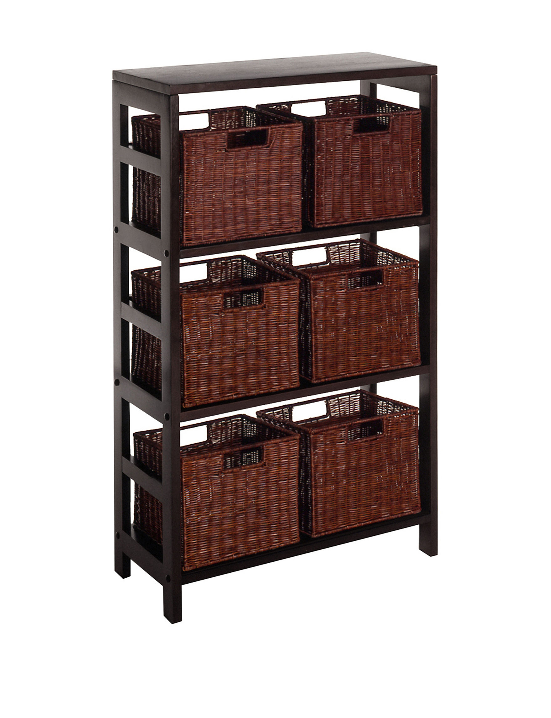 Winsome Brown Baskets Living Room Furniture