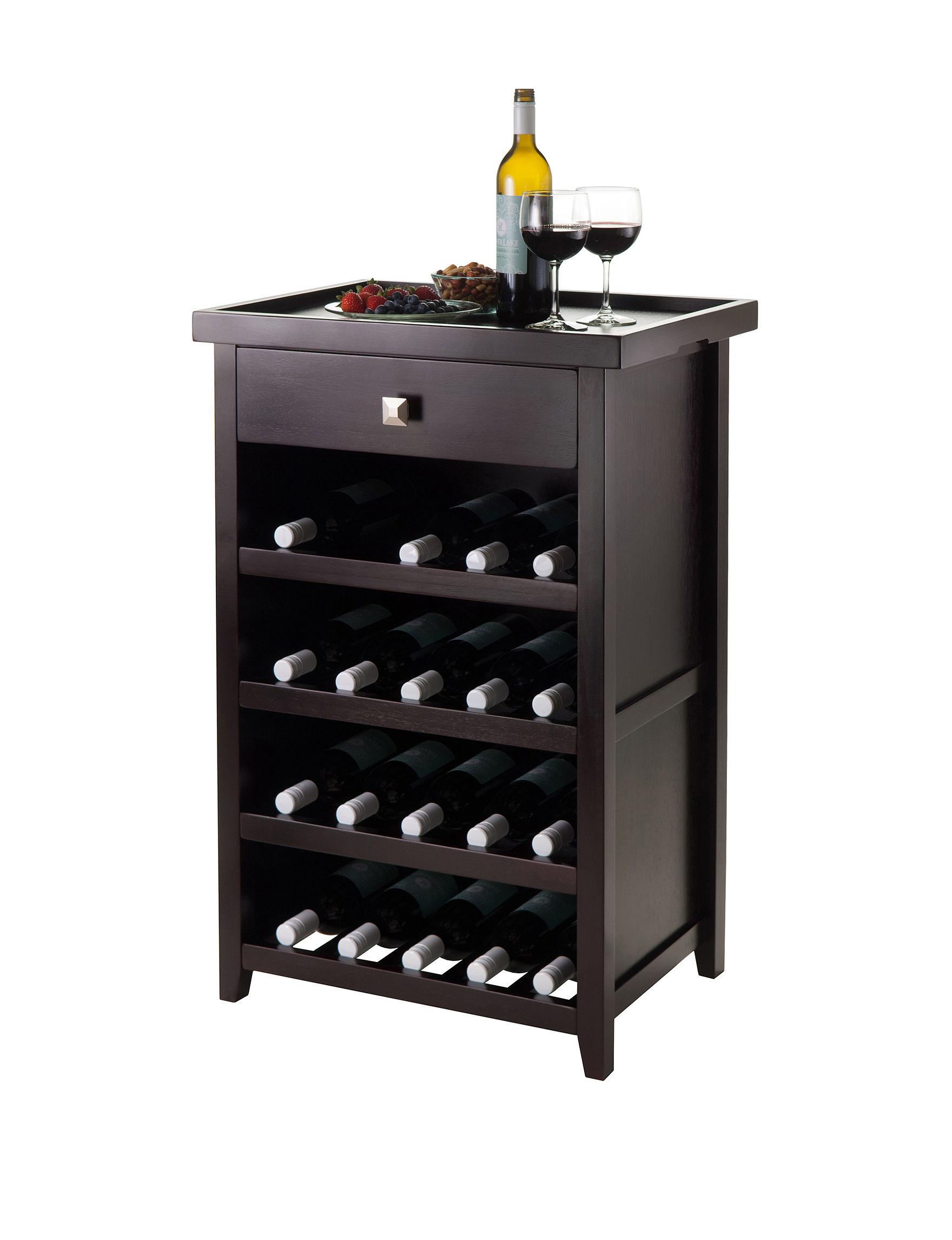 Winsome Brown Bar & Wine Storage Living Room Furniture