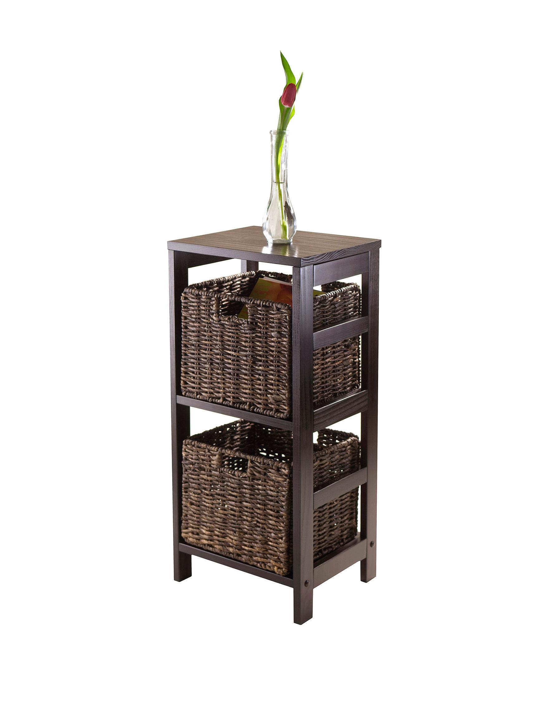Winsome 3 Pc Granville Storage Shelf Basket Set Stage