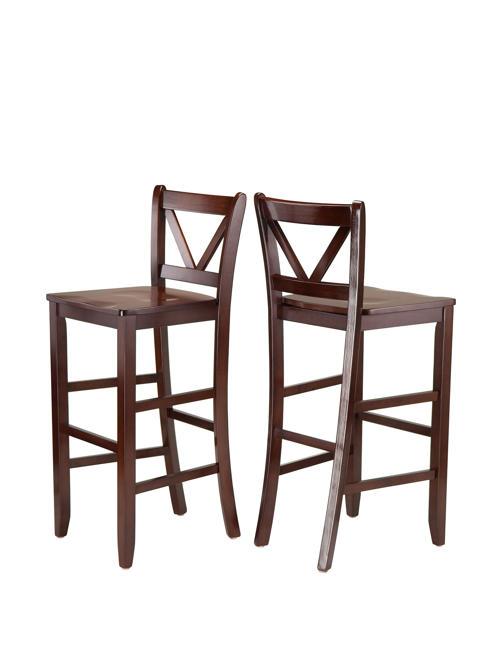 Winsome Victor Set Of 2 V Back Bar Stools Stage Stores