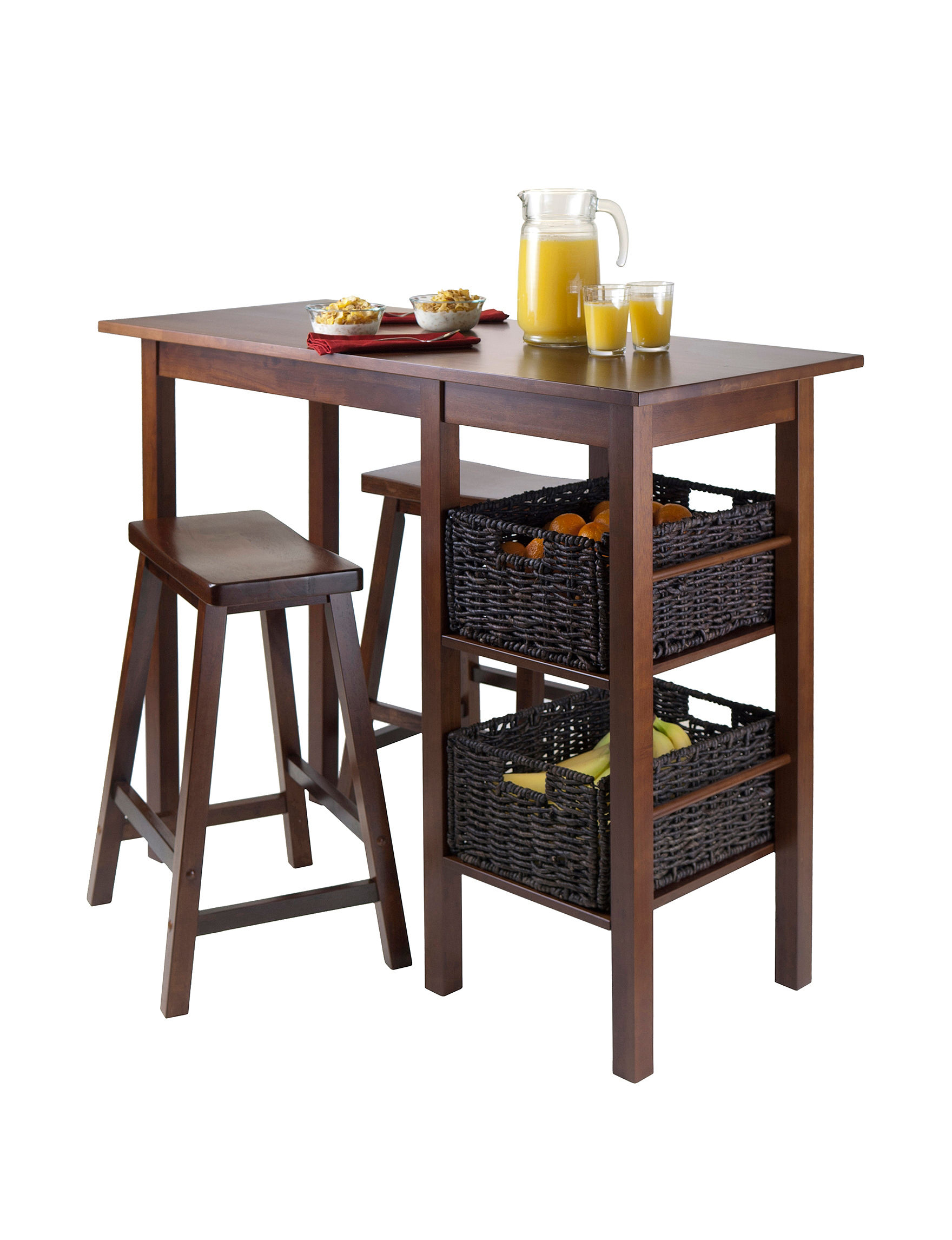 3 piece fiona set high round table with vback bar stools woo