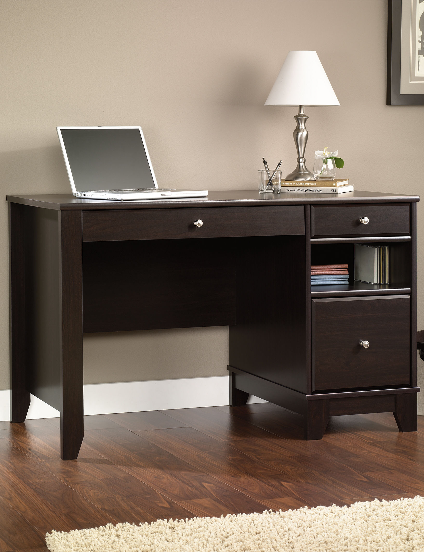 Sauder Chocolate Desks Home Office Furniture