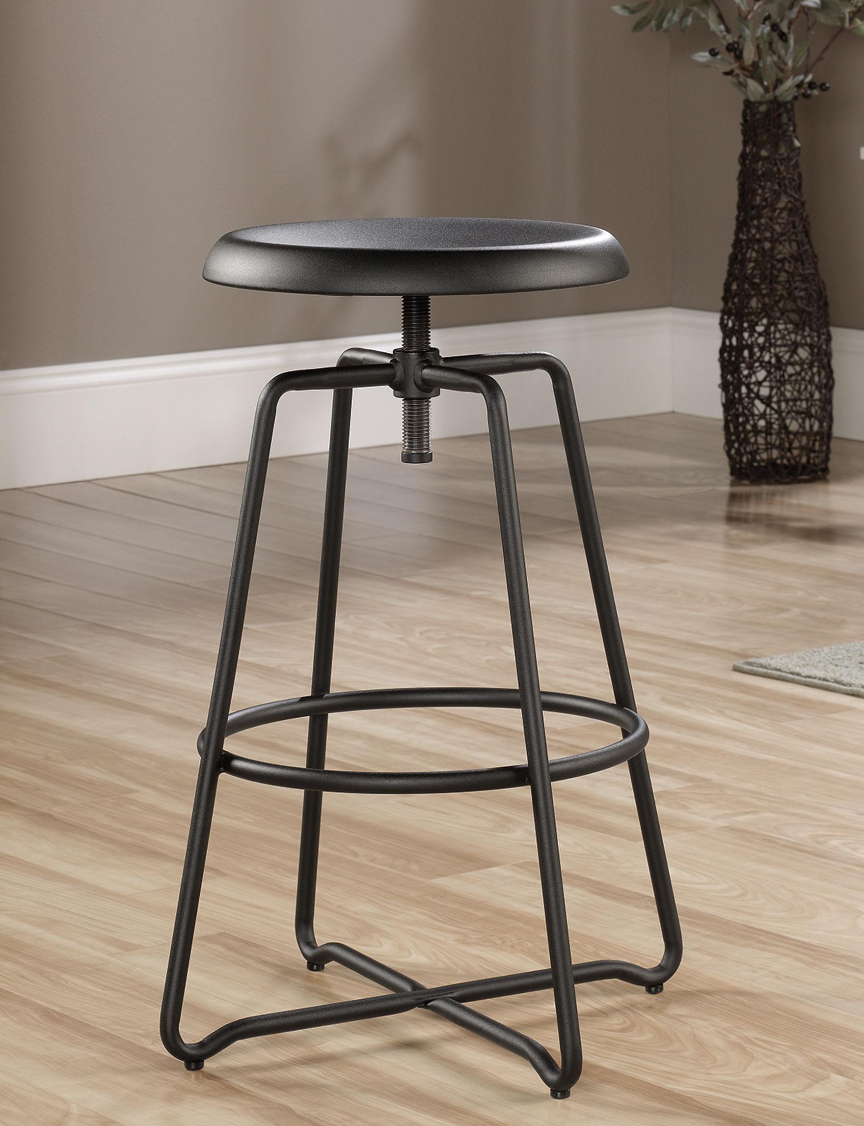 Sauder Black Bar & Kitchen Stools Kitchen & Dining Furniture