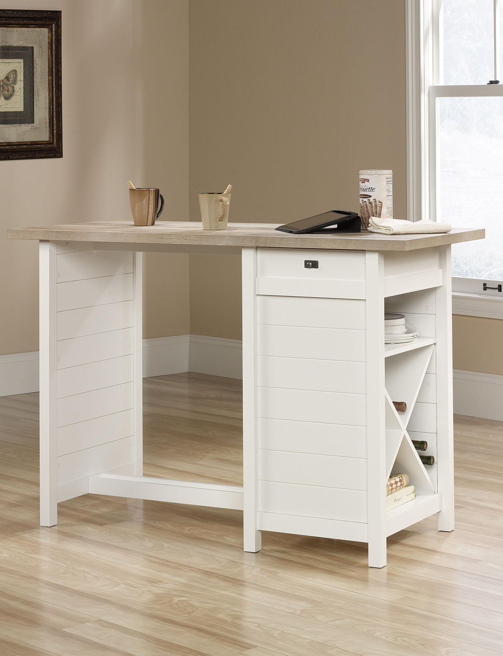 Sauder Off White Kitchen Islands & Carts Kitchen & Dining Furniture