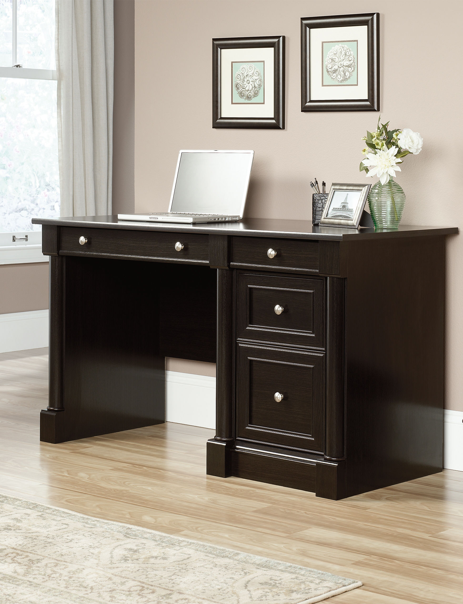 Sauder Avenue Eight Wind Oak Computer Desk Stage Stores