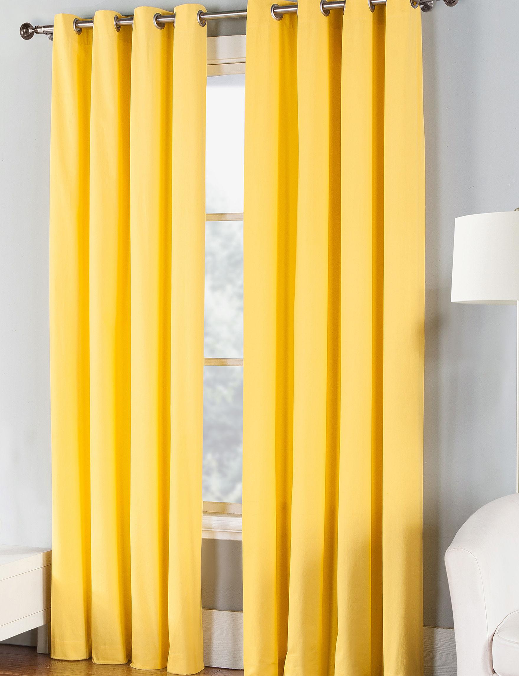 Fiesta Yellow Curtains & Drapes Window Treatments