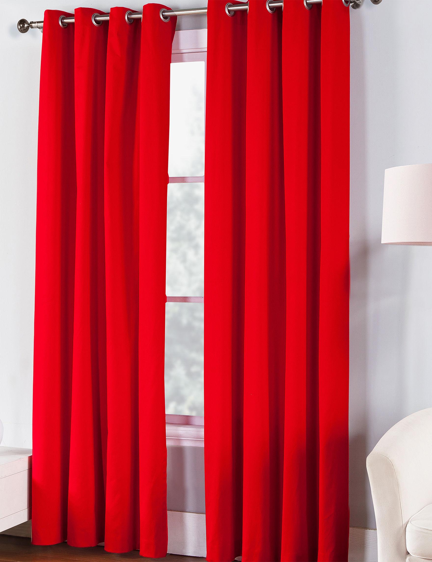 Fiesta Scarlet Curtains & Drapes Window Treatments