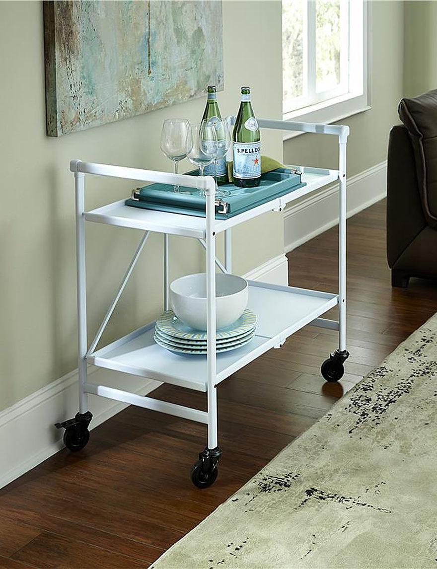 Cosco White Kitchen Islands & Carts Kitchen & Dining Furniture