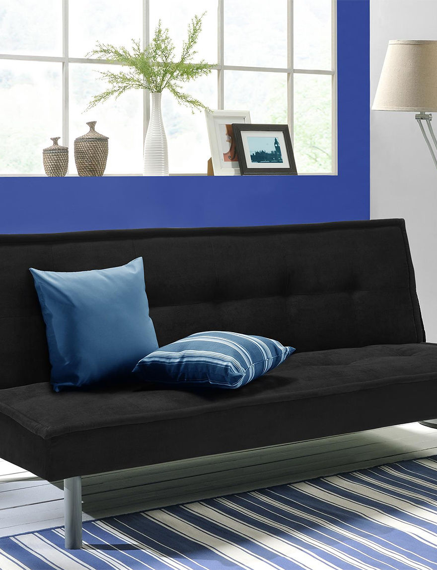 Dorel Black Futons & Sofa Sleepers Living Room Furniture