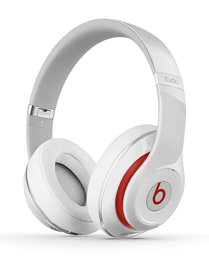 Beats by Dre Studio 2.0 Wired Beats Over Ear Headphones  White - White - Beats by Dre