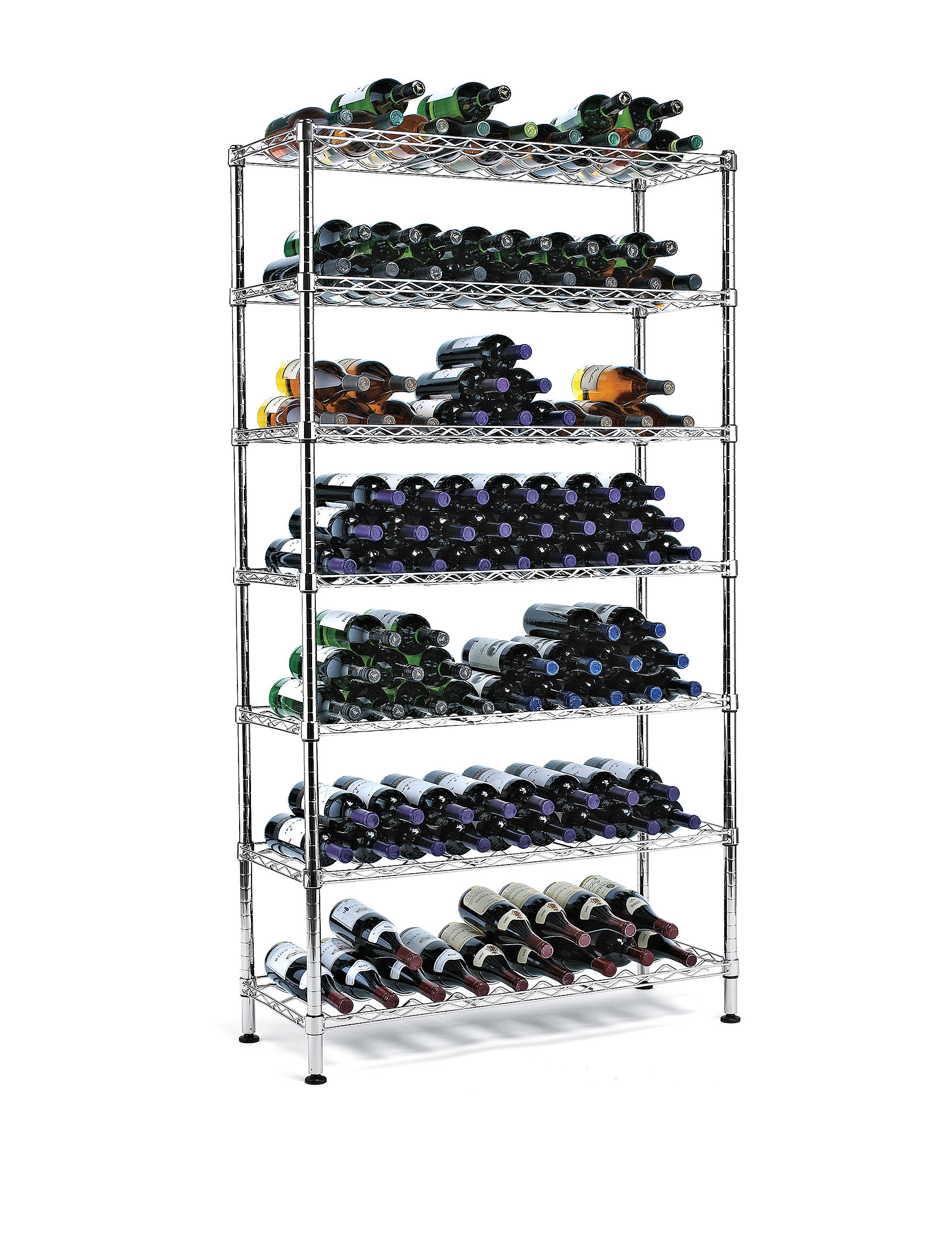 Wine Enthusiast Silver Wine Racks Bar Accessories