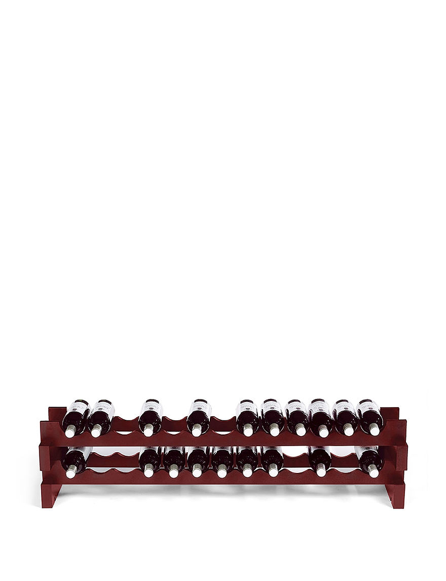 Wine Enthusiast Burgandy Wine Racks Bar Accessories