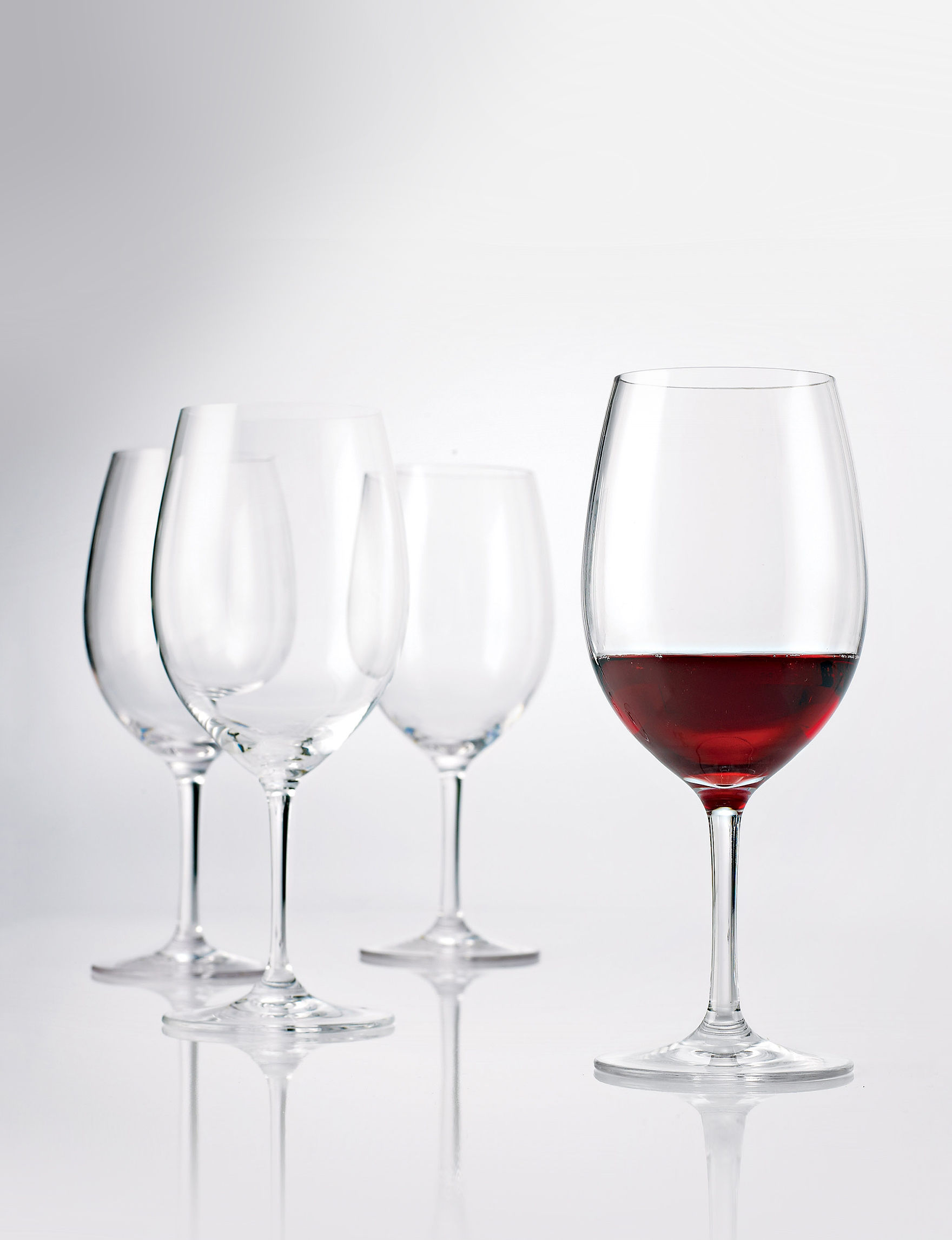 Wine Enthusiast Silver Wine Glasses Drinkware