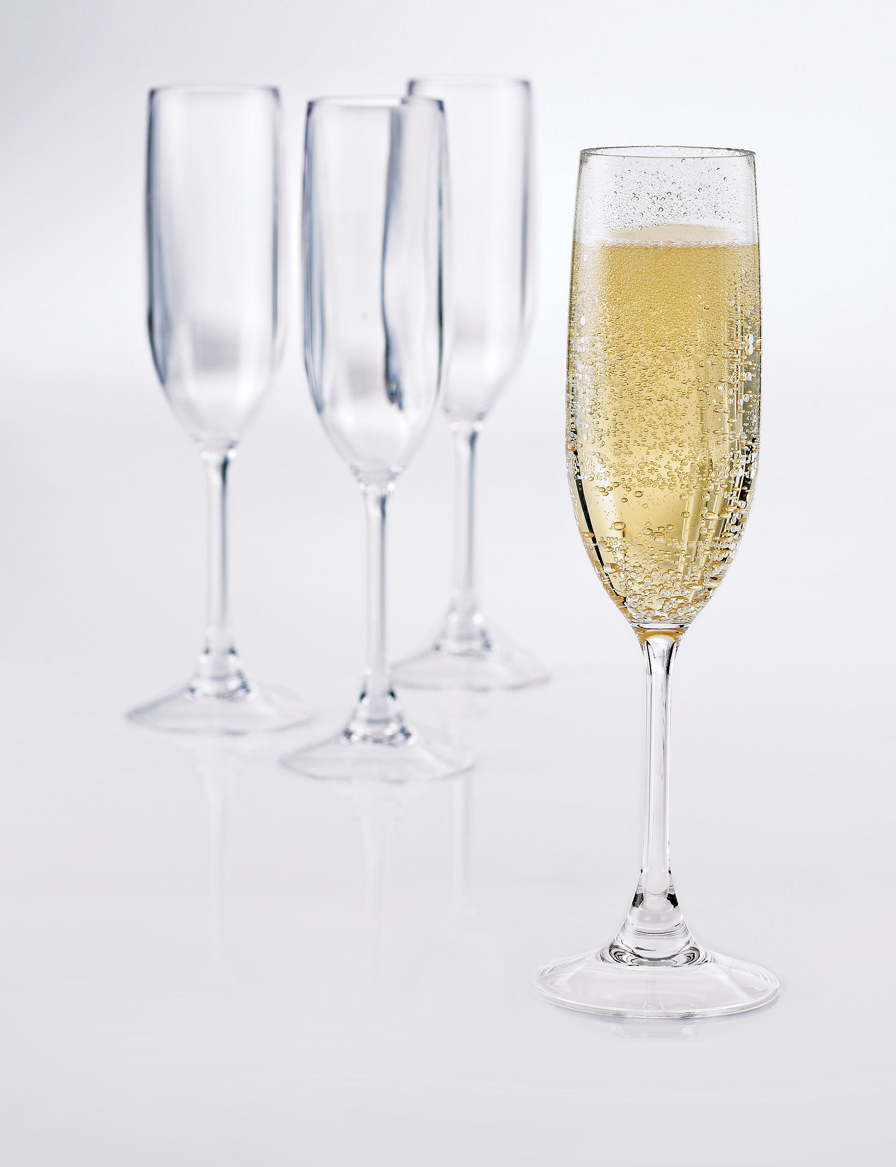 Wine Enthusiast Silver Champagne Glasses Drinkware Sets Drinkware