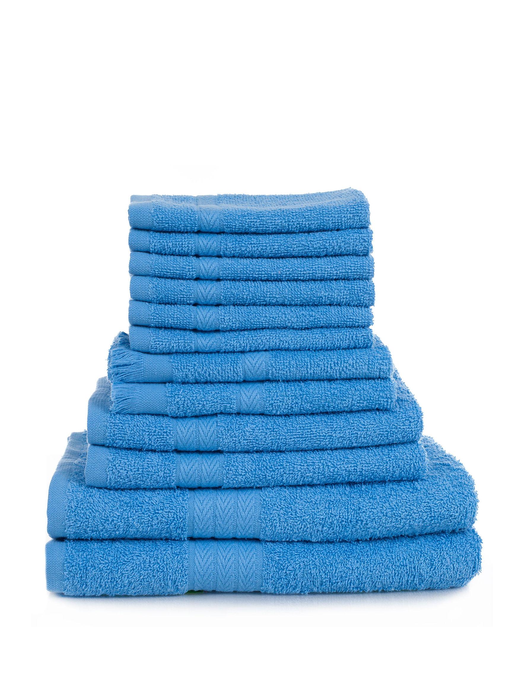 Lavish Home Blue Bath Towels Towel Sets Towels