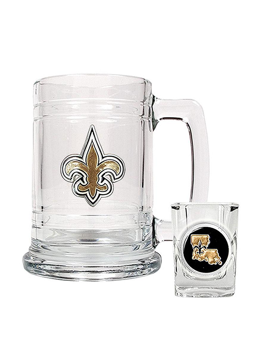 NFL Clear Beer Glasses Cocktail & Liquor Glasses Mugs Drinkware