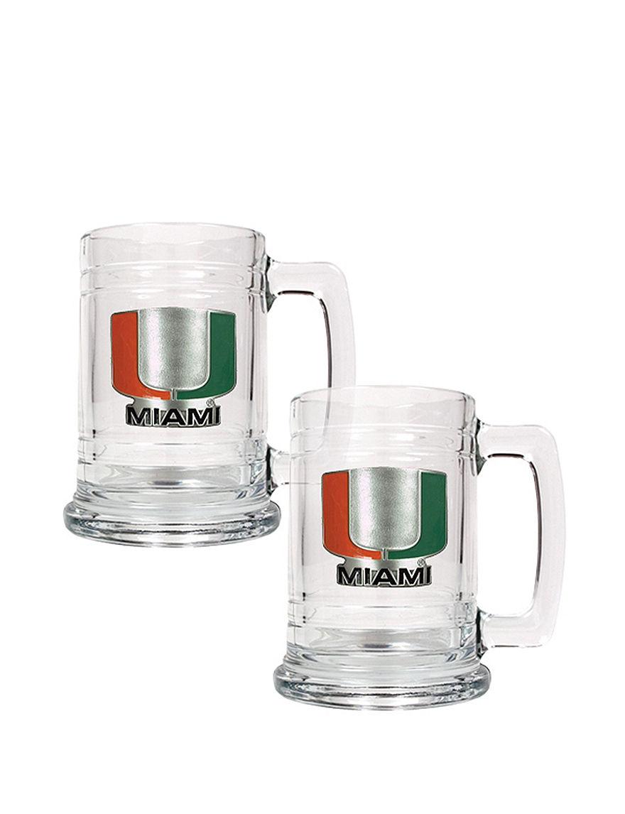 NCAA Clear Beer Glasses Drinkware Sets Mugs Drinkware