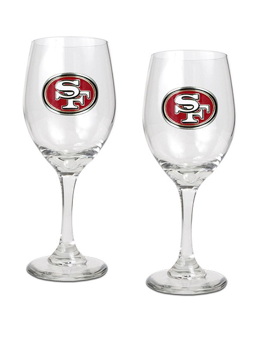 NFL Clear Wine Glasses Drinkware