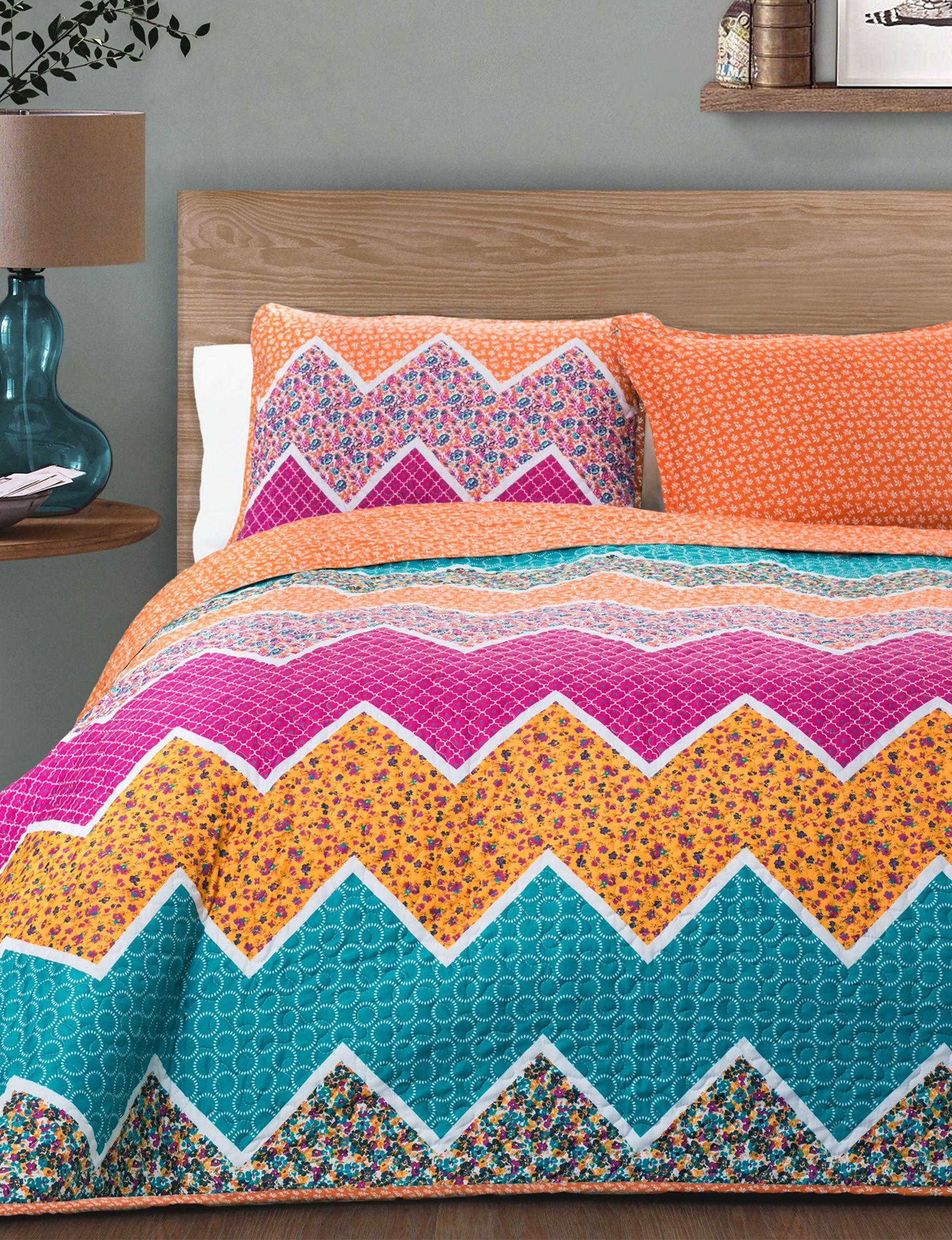 Lush Decor Orange Quilts & Quilt Sets