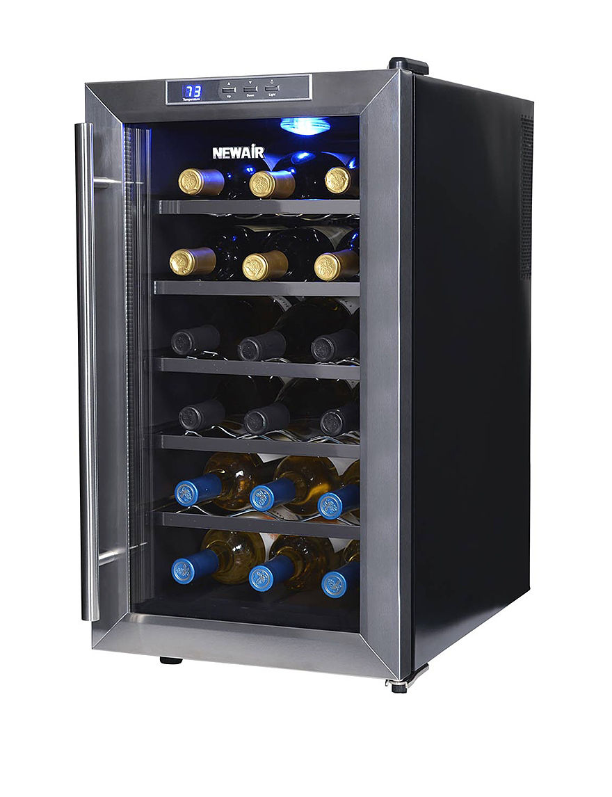 New Air Silver / Black Wine Coolers Kitchen Appliances