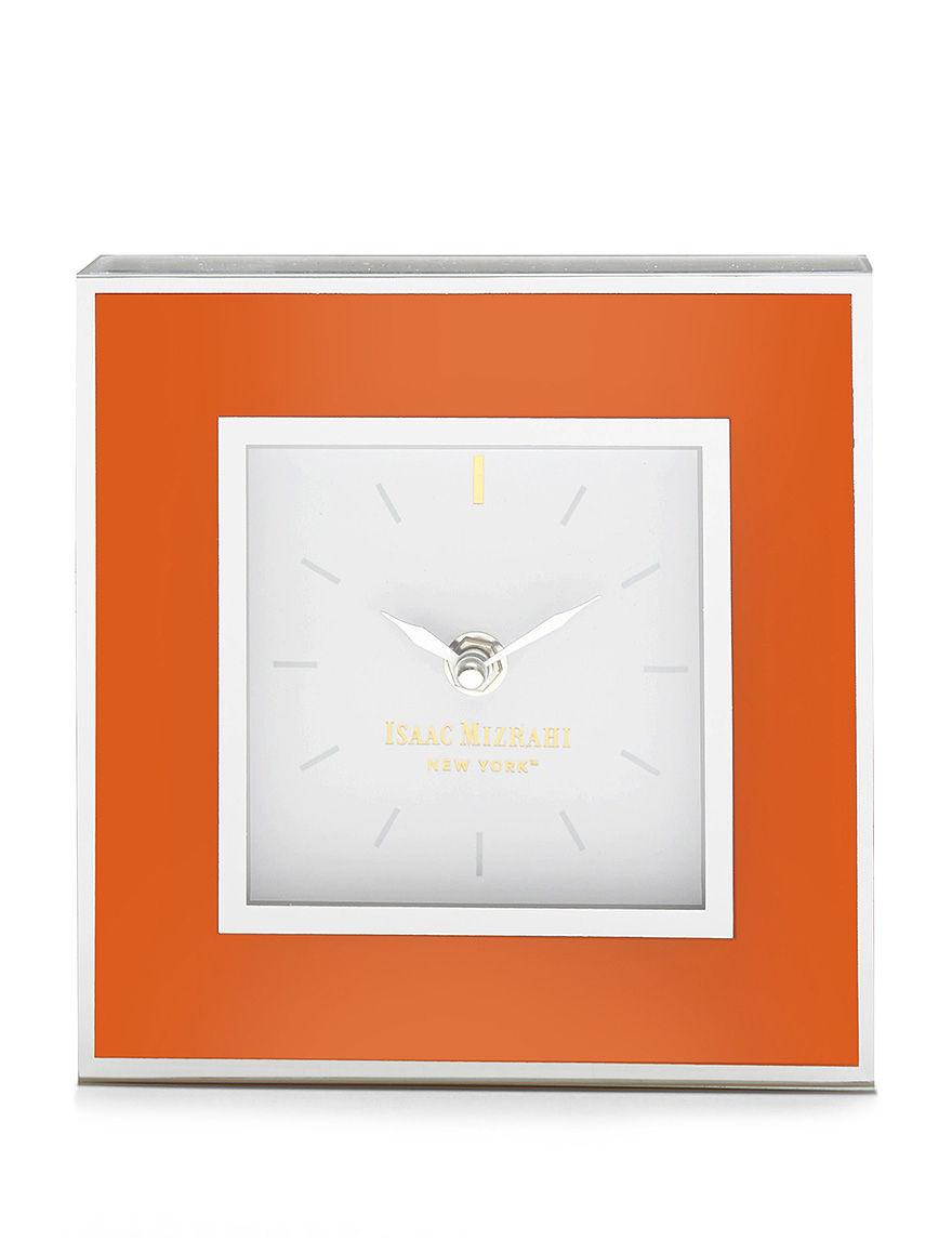 Isaac Mizrahi Orange Desk Clocks Home Accents