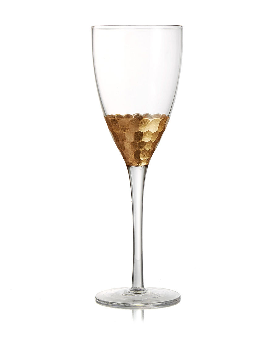 Fitz and Floyd Gold Wine Glasses Drinkware