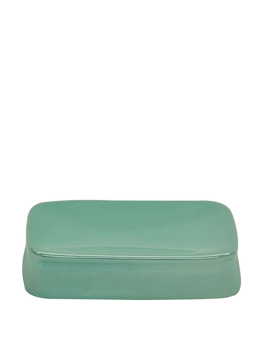 Jessica Simpson Aqua Soap Dishes Bath Accessories