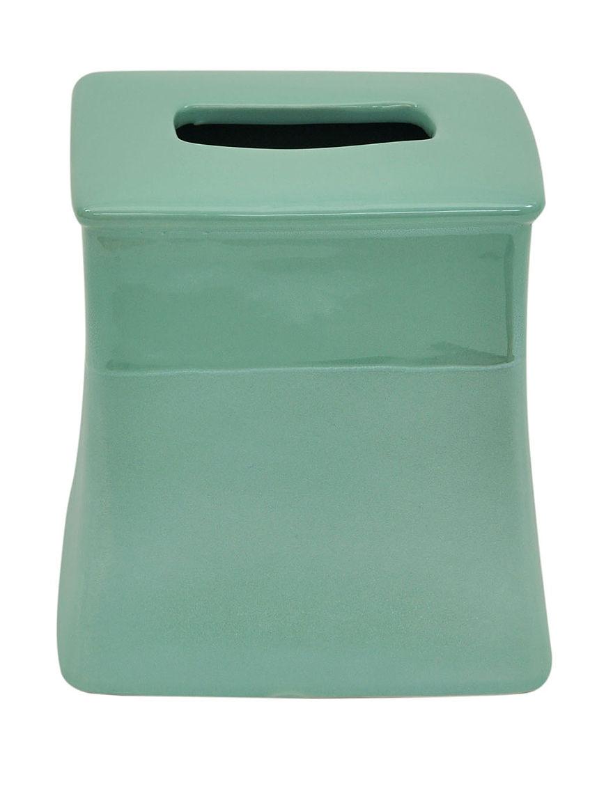 Jessica Simpson Aqua Tissue Box Covers Bath Accessories