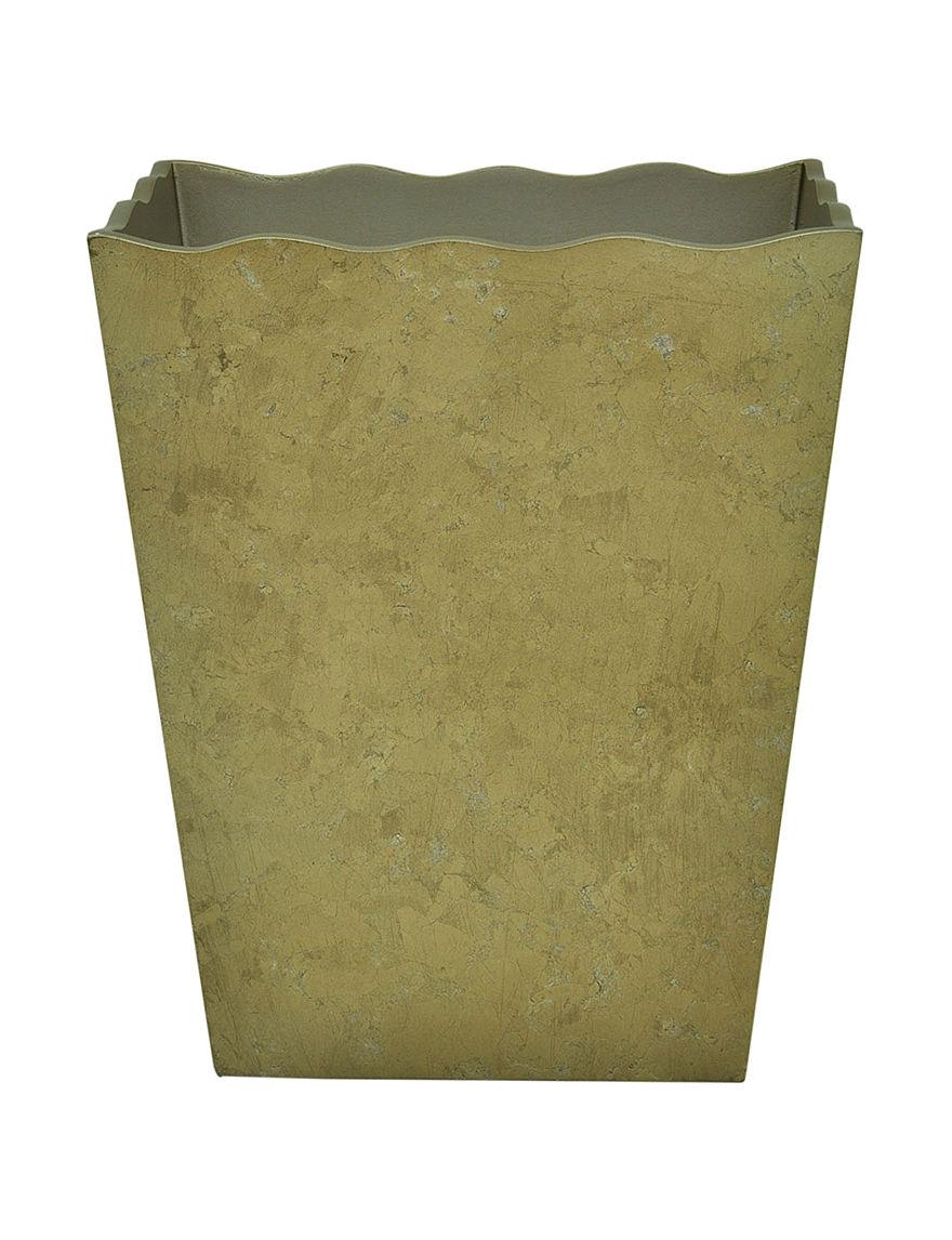 Jessica Simpson Gold Wastebaskets Bath Accessories