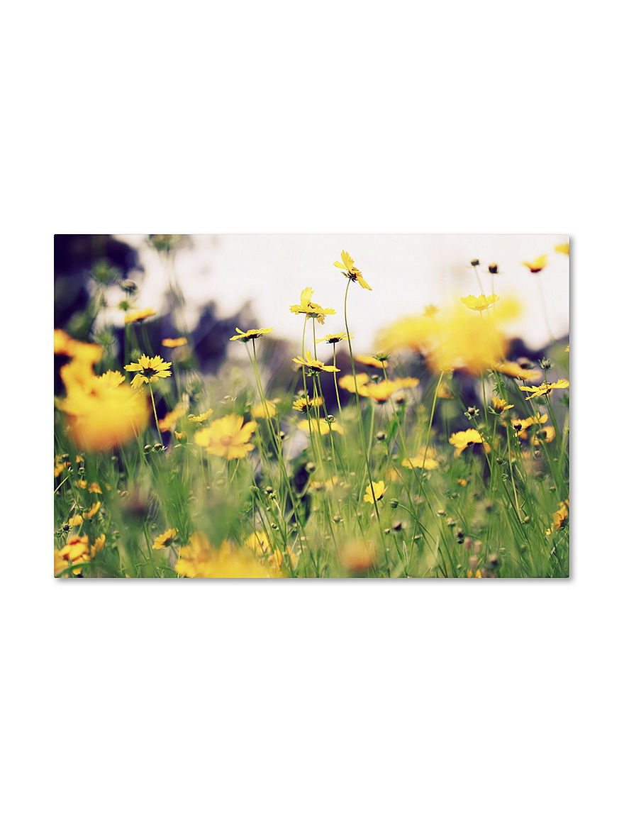 Trademark Fine Art Yellow Wall Art Wall Decor