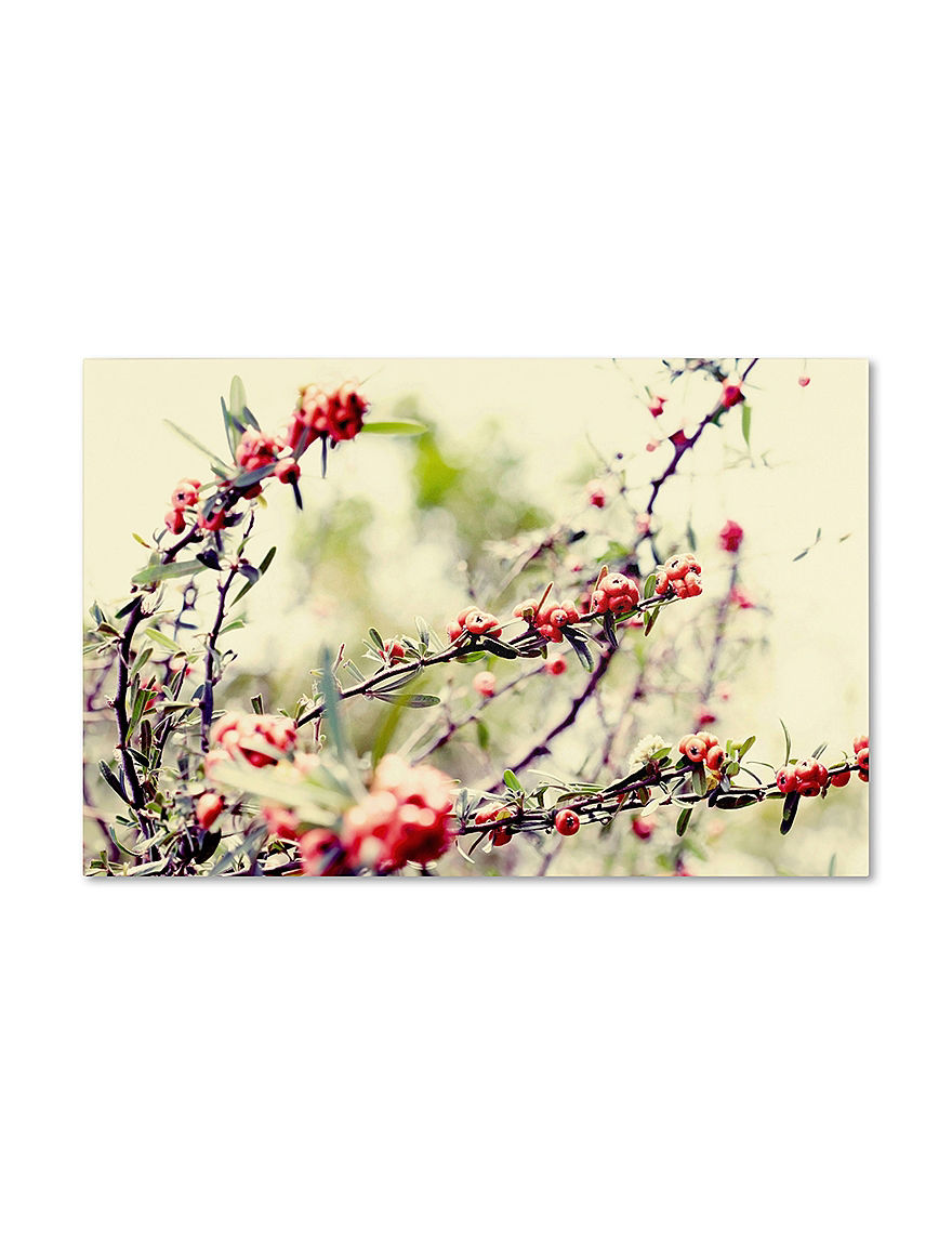 Trademark Fine Art Red Wall Art Wall Decor