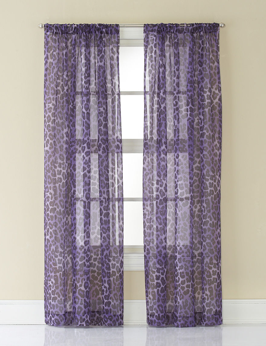 CHF & You Purple Curtains & Drapes Window Treatments