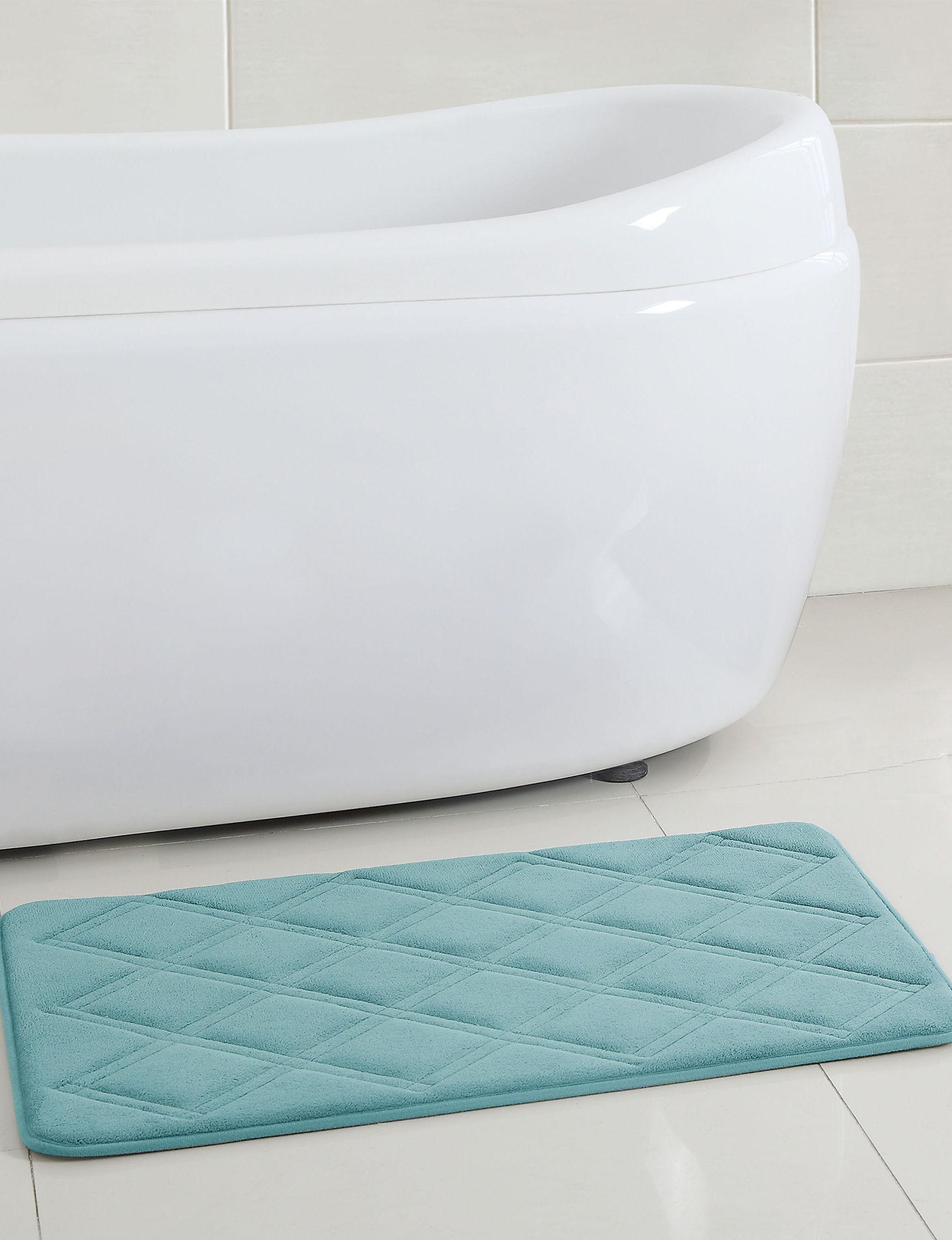Victoria Classics Aqua Bath Rugs & Mats