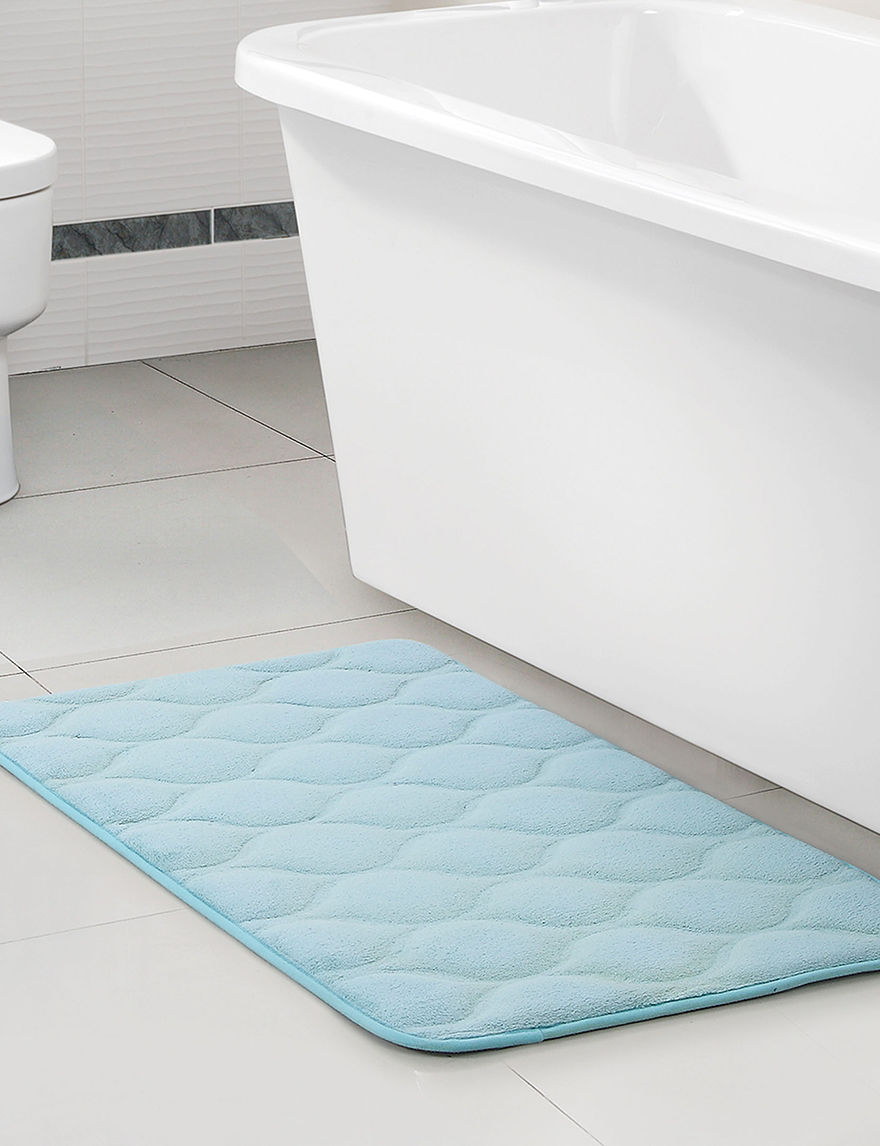 Victoria Classics Light Blue Bath Rugs & Mats