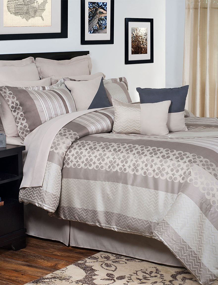 Lavish Home Taupe Comforters & Comforter Sets