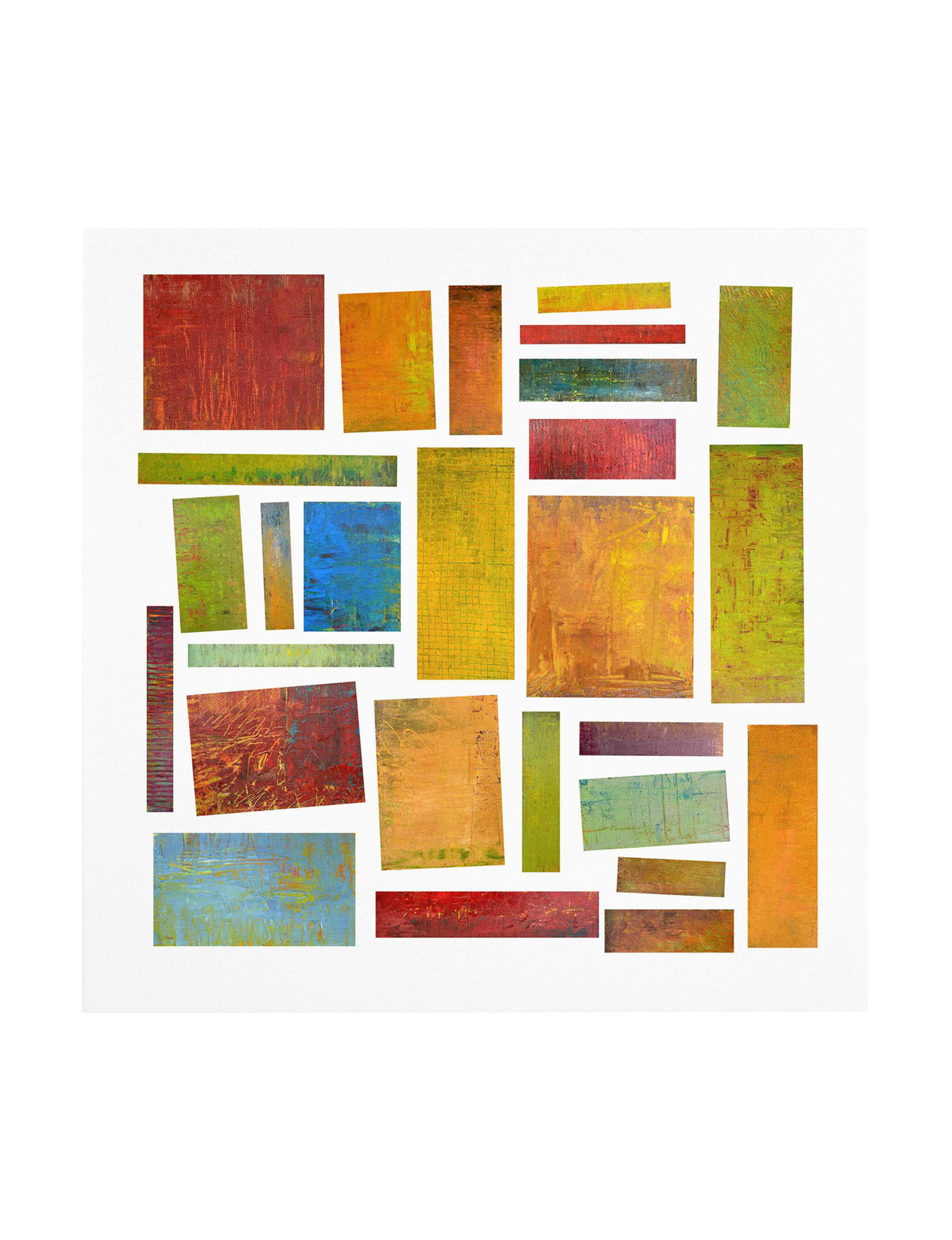 Trademark Fine Art Green Multi Wall Art Wall Decor
