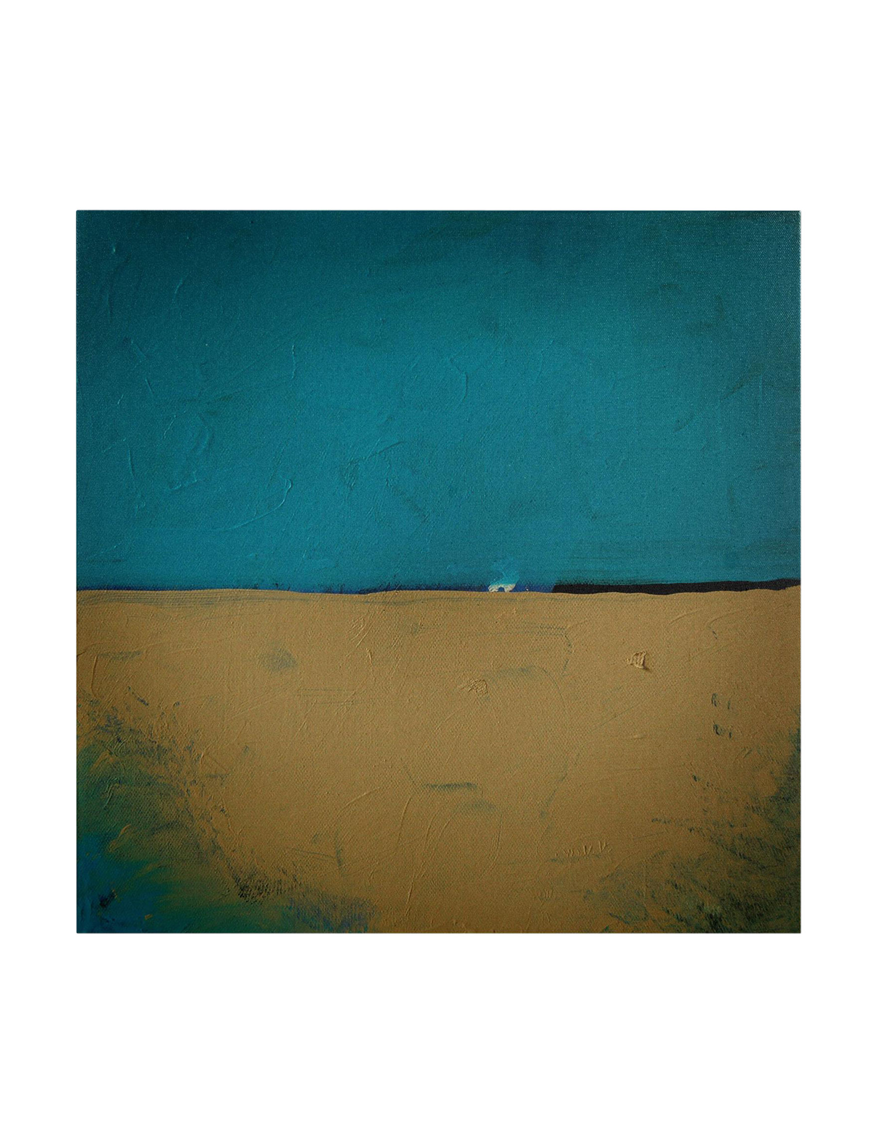 Trademark Fine Art Teal / Tan Wall Art Wall Decor